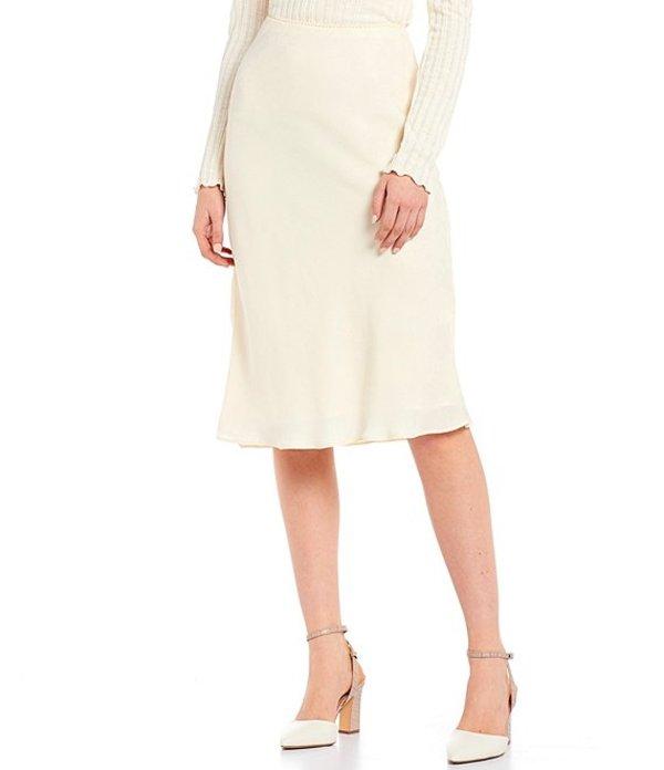 チェルシーアンドバイオレット レディース スカート ボトムス Floral Print Satin Bias Skirt Ecru