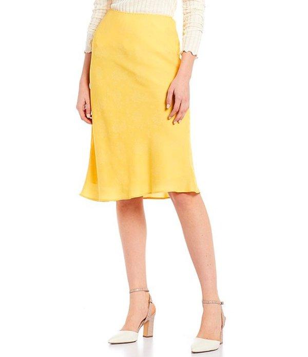 チェルシーアンドバイオレット レディース スカート ボトムス Floral Print Satin Bias Skirt Maize