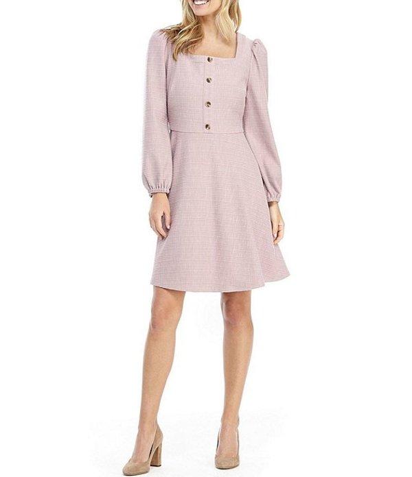 ギャルミーツグラム レディース ワンピース トップス Greta Square Neck Puff Shoulder A-Line Dress Dusty Purple