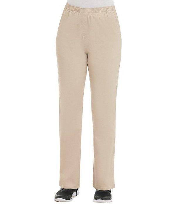 アリソン デイリー レディース カジュアルパンツ ボトムス Twill Pull-On Straight Leg Pants Light Khaki