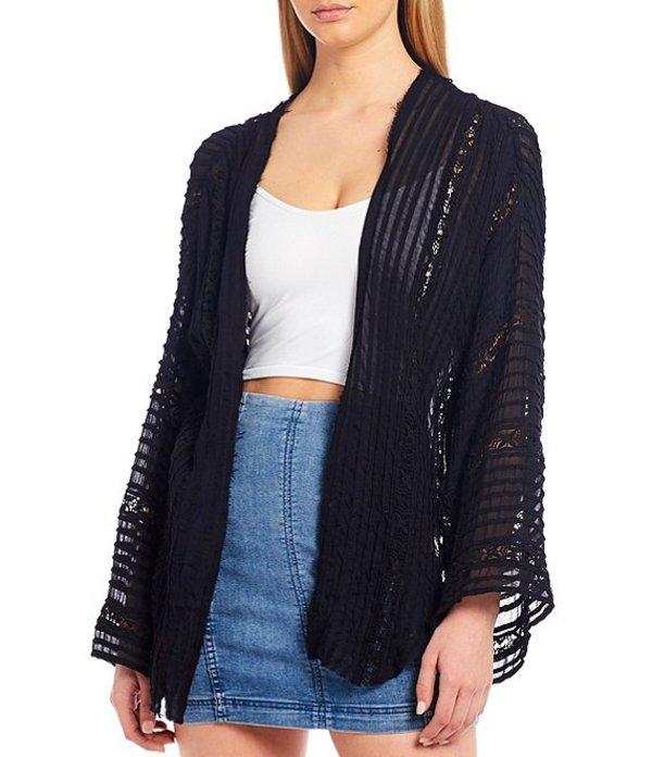 フリーピープル レディース ジャケット・ブルゾン アウター Willows Long Sleeve Kimono Jacket Black