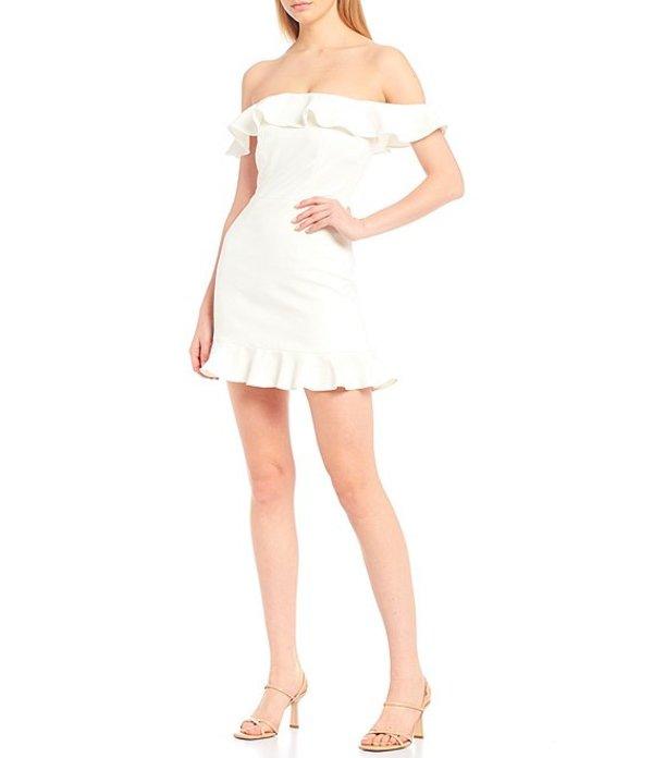 フレンチコネクション レディース ワンピース トップス Ruffle Off-The-Shoulder Dress Summer White