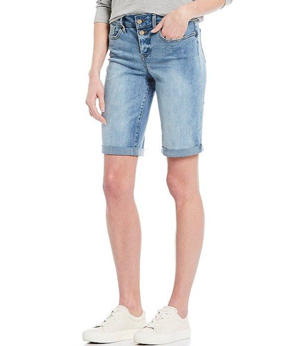 エヌワイディージェイ レディース ハーフパンツ・ショーツ ボトムス Briella Button Mock Fly Roll-Cuff Shorts Biscayne
