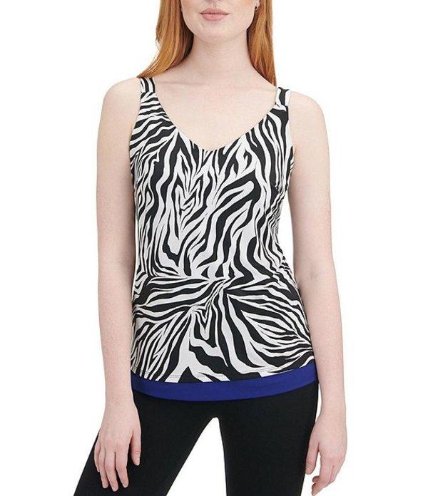 ピーター ナイガード レディース タンクトップ トップス Reversible Knit Jersey Zebra Print Tank Black/White/Zebra