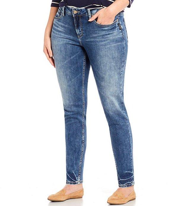 シルバー ジーンズ レディース デニムパンツ ボトムス Plus Size Suki Mid Rise Skinny Leg Jean Indigo