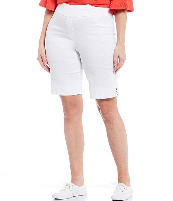 ルビーアールディー レディース ハーフパンツ・ショーツ ボトムス Plus Size Luxe Tech Stretch Pull-On Bermuda Shorts White