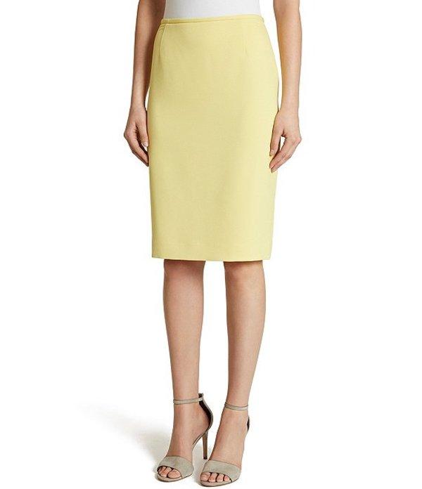 タハリエーエスエル レディース スカート ボトムス Twill Pencil Skirt Lemon Yellow