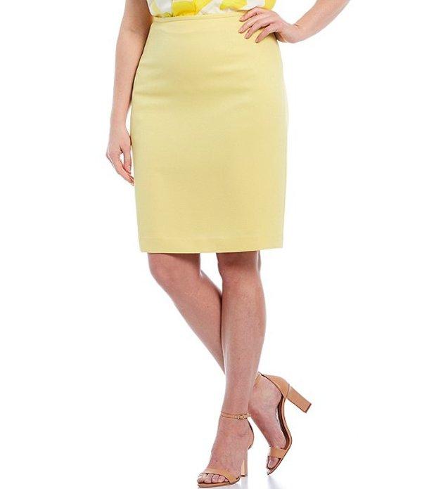 タハリエーエスエル レディース スカート ボトムス Plus Size Twill Pencil Skirt Lemon Yellow