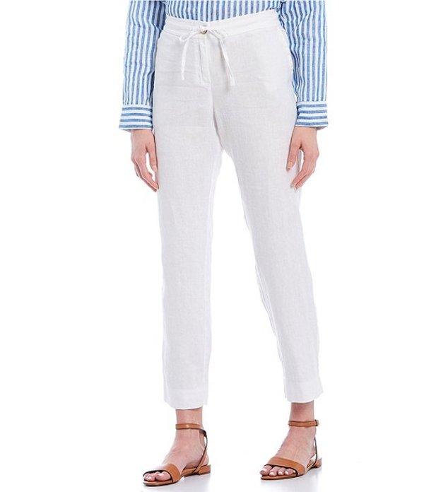 トッミーバハマ レディース カジュアルパンツ ボトムス Palmbray Yarn Dyed Chambray Linen Tapered Ankle Pants White