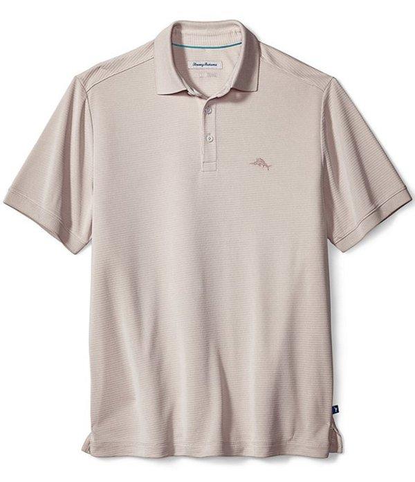 トッミーバハマ メンズ シャツ トップス Coastal Crest Short-Sleeve Polo Shirt Coconut Cream