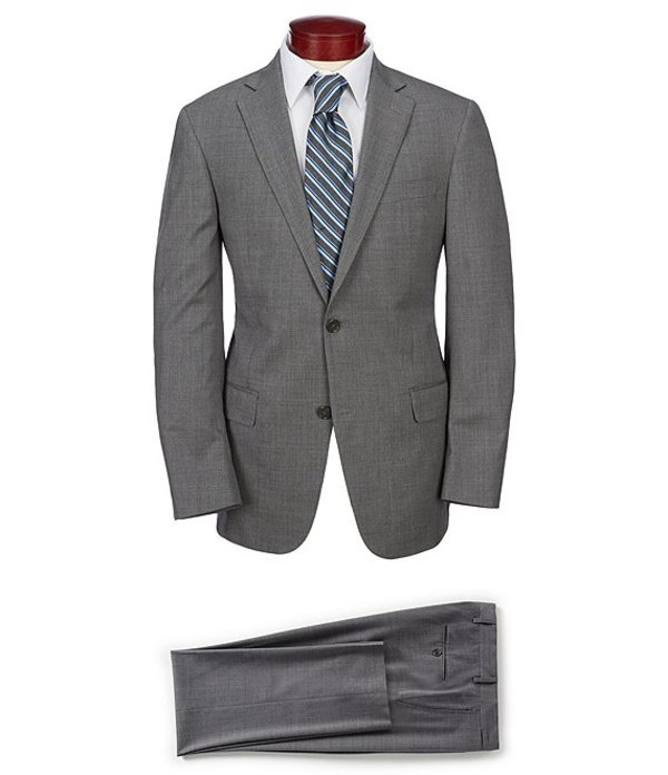 ハート シャフナー マルクス メンズ ジャケット・ブルゾン アウター Modern Fit Solid Suit Grey