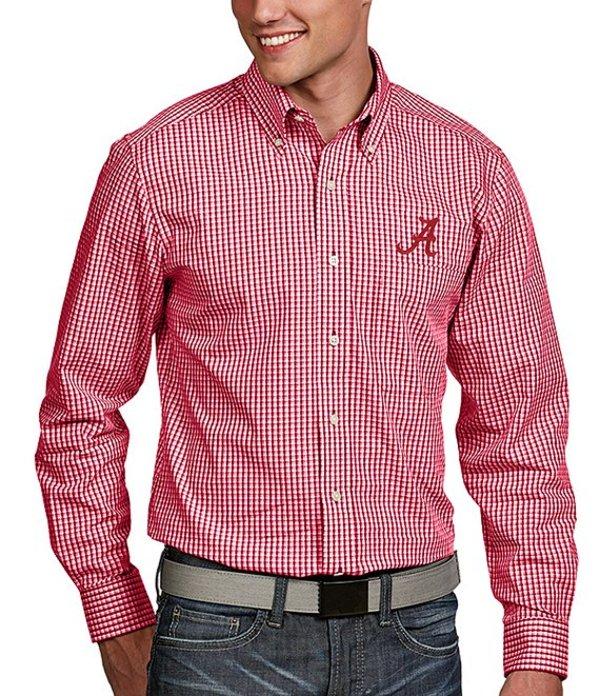 アンティグア メンズ シャツ トップス NCAA Associate Long-Sleeve Woven Shirt Alabama Crimson Tide