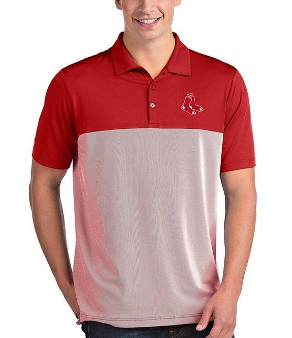 アンティグア メンズ シャツ トップス MLB American League Venture Short-Sleeve Polo Shirt Boston Red Sox Dark Red