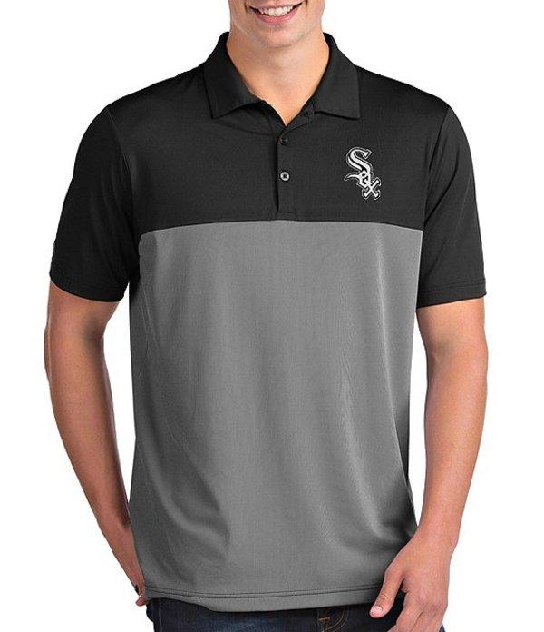アンティグア メンズ シャツ トップス MLB American League Venture Short-Sleeve Polo Shirt Chicago White Sox Black
