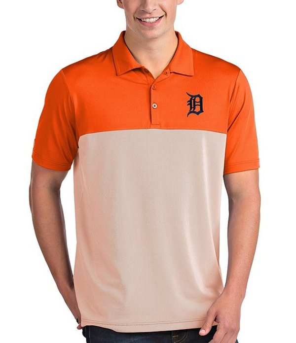 アンティグア メンズ シャツ トップス MLB American League Venture Short-Sleeve Polo Shirt Detroit Tigers Mango