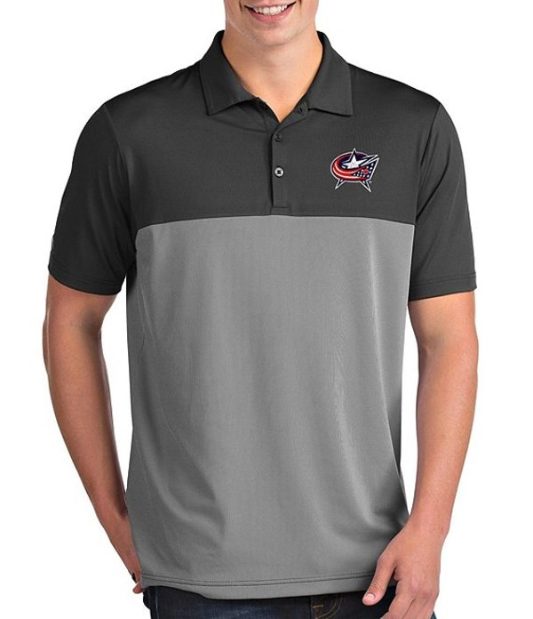 アンティグア メンズ シャツ トップス NHL Venture Short-Sleeve Polo Shirt Columbus Blue Jackets Smoke