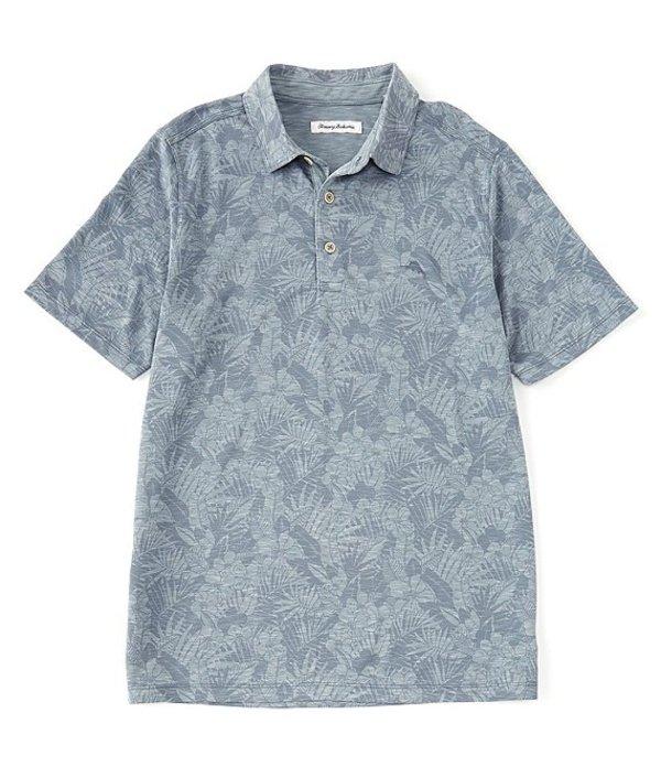 トッミーバハマ メンズ シャツ トップス Palmetto Palms Short-Sleeve Polo Shirt Sail Fish