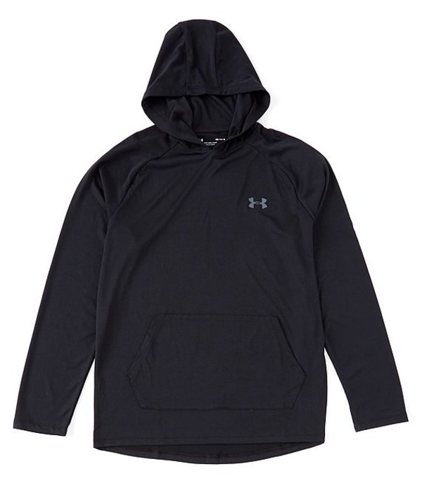 アンダーアーマー メンズ シャツ トップス Loose Long-Sleeve UA Tech Hoodie 2.0 Black/Pitch Gray