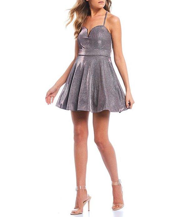 ミッドナイト ドール レディース ワンピース トップス X-Back Iridescent Shine Fit & Flare Dress Blush/Multi