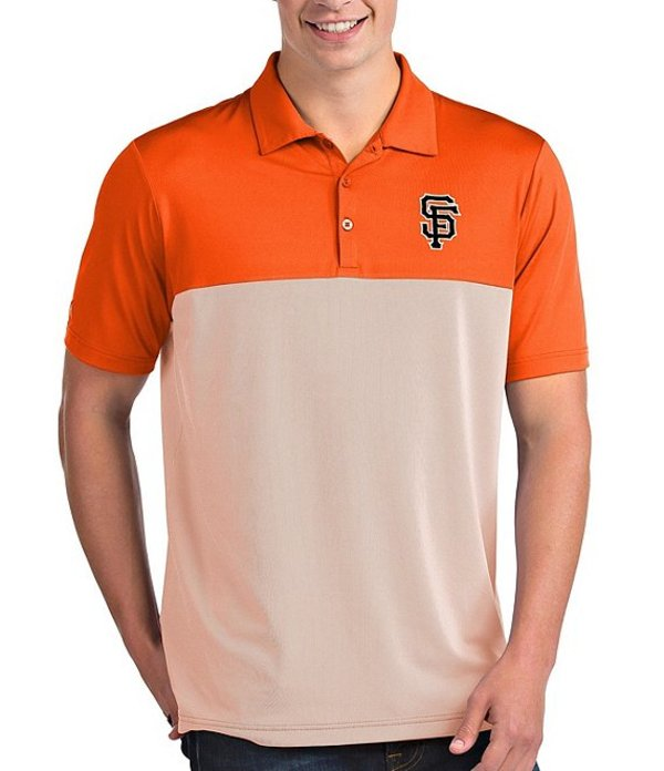 アンティグア メンズ シャツ トップス MLB National League Venture Short-Sleeve Polo Shirt San Francisco Giants Orange