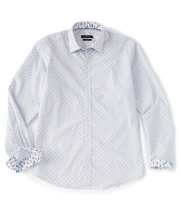 ブガッチ メンズ シャツ トップス Geo Dot Print Long-Sleeve Woven Shirt Ocean
