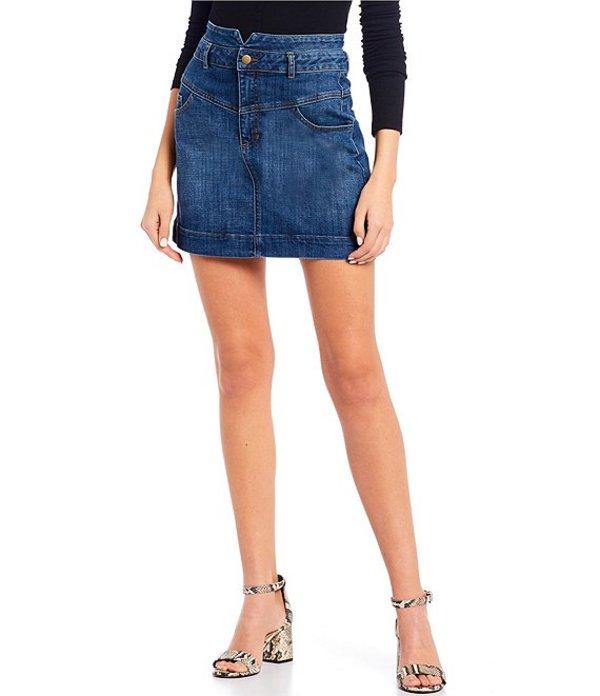 ジービー レディース スカート ボトムス Denim Mini Skirt Indigo