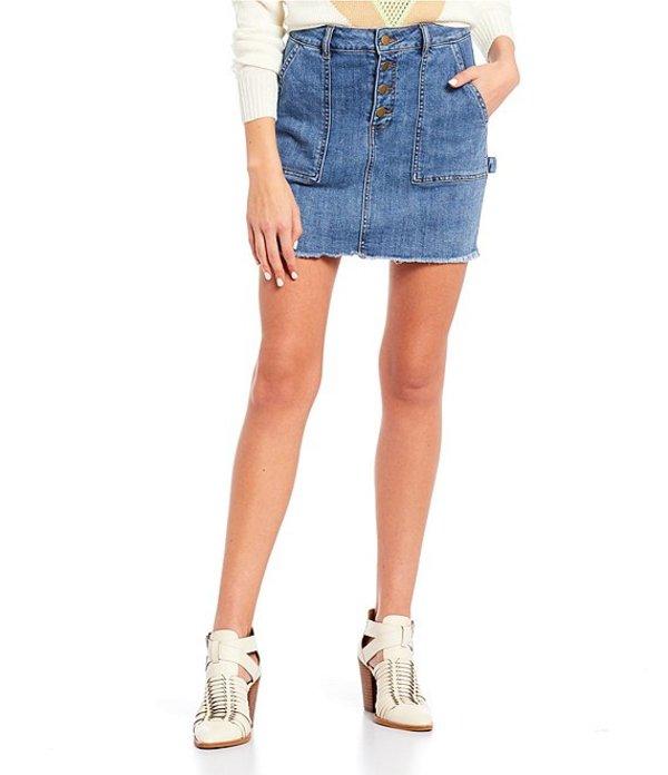 ジービー レディース スカート ボトムス Carpenter Mini Skirt Indigo