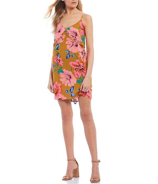 ビラボン レディース ワンピース トップス For The Frill Floral Print Dress Moss Landing