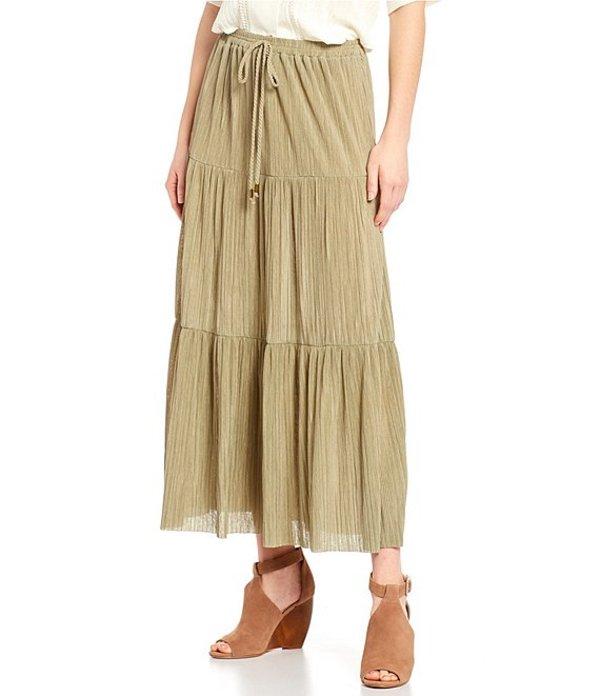 ブルーペッペーブルーペッパー レディース スカート ボトムス Tiered Peasant Skirt Olive