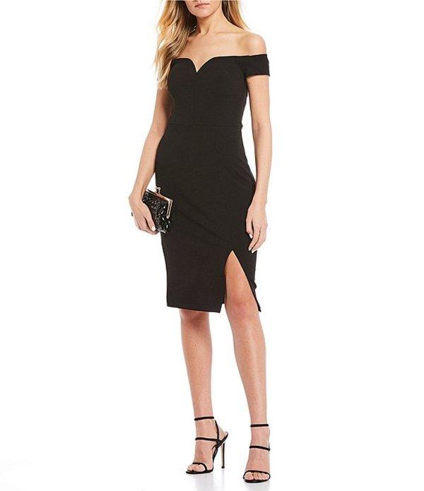 ビーダーリン レディース ハーフパンツ・ショーツ ボトムス Off The Shoulder Bodycon Dress Black