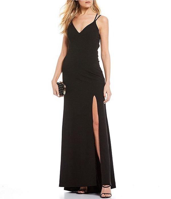 ビーダーリン レディース ワンピース トップス Double Spaghetti Strap X-Back Long Dress Black
