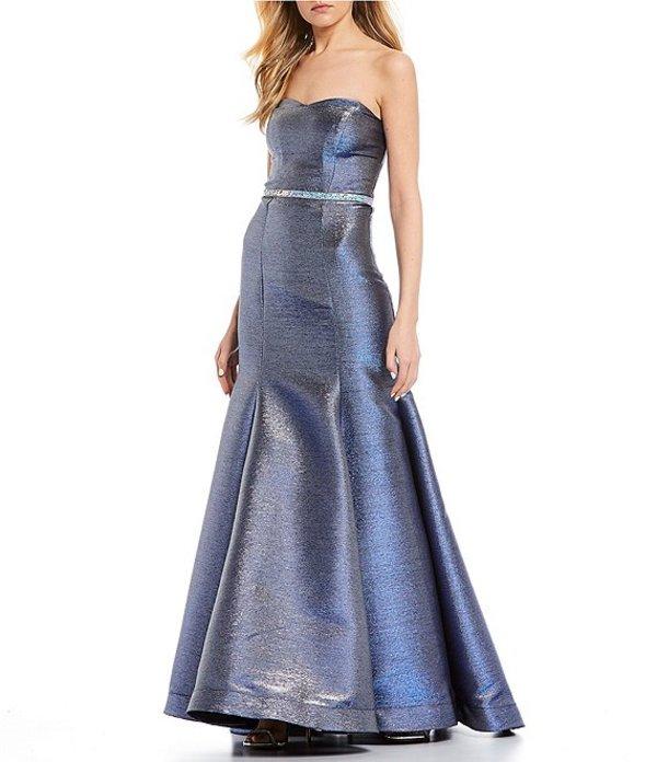 ビーダーリン レディース ワンピース トップス Strapless Shimmer Shine Trumpet Dress Royal/Silver