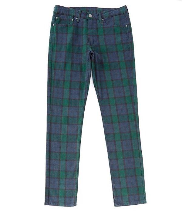 リーバイス メンズ デニムパンツ ボトムス Levi'sR 511 Slim-Fit Plaid Stretch Twill Chino Pants Backhousia Mineral Black