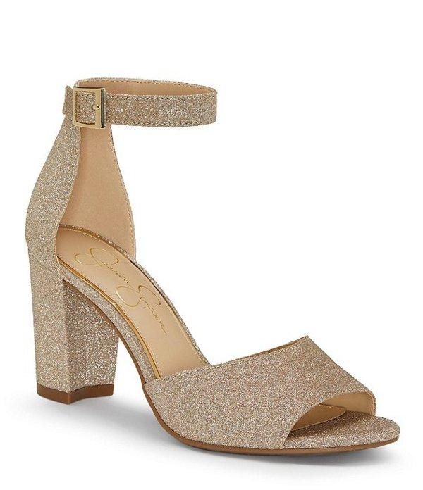 ジェシカシンプソン レディース サンダル シューズ Sherron Ankle Strap Block Heel Sandals Champagne