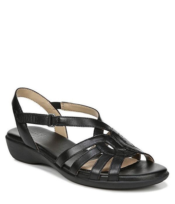 ナチュライザー レディース サンダル シューズ Nalani Casual Leather Backstrap Sandals Black