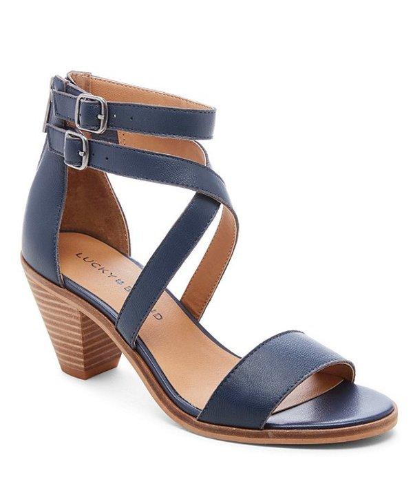 ラッキーブランド レディース サンダル シューズ Ressia Leather Cone Heel Sandals Indigo