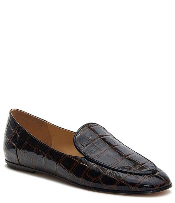 アイグナー レディース スリッポン・ローファー シューズ Camille Croco Print Leather Loafers Penny