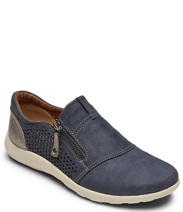 ロックポート レディース スニーカー シューズ Cobb Hill Amalie Perforated Leather Slip Ons Denim Perf
