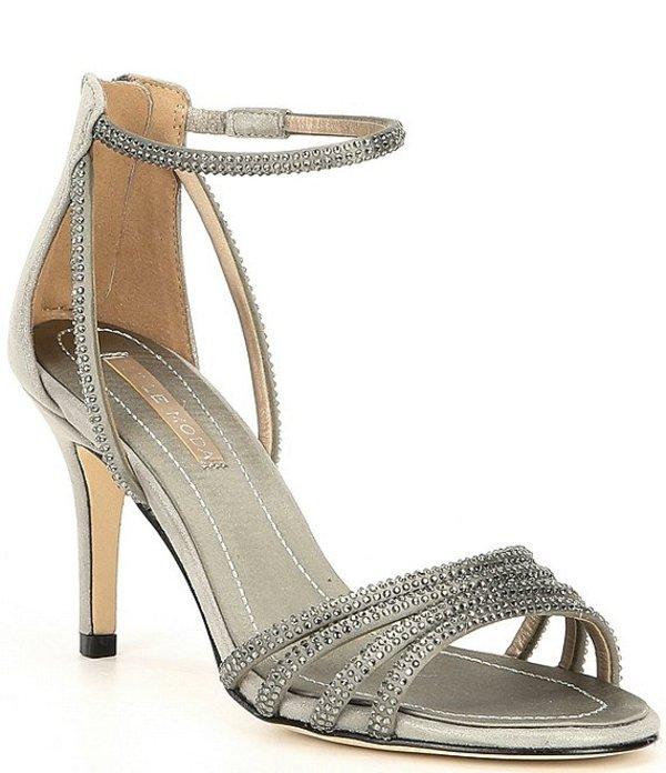 ペレモーダ レディース サンダル シューズ Roux Satin Shimmer Suede Dress Sandals Pewter Satin/Shimmer Suede