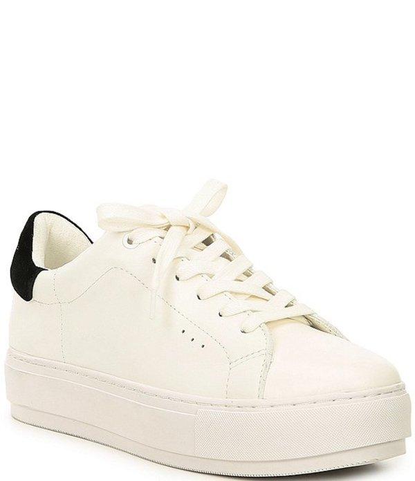 カートジェイガー レディース スニーカー シューズ Laney Leather Flatform Lace-Up Sneakers White/Black