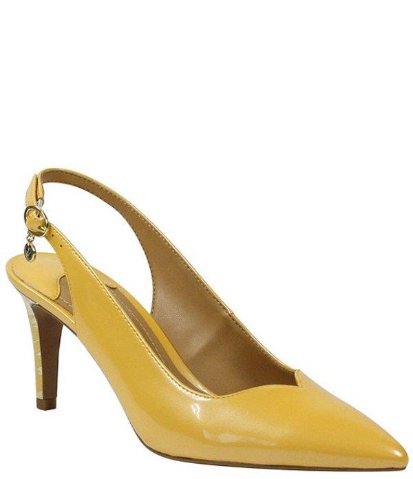 ジェイレニー レディース ヒール シューズ Belamie Patent Slingback Pointed Toe Pumps Marigold Pearl
