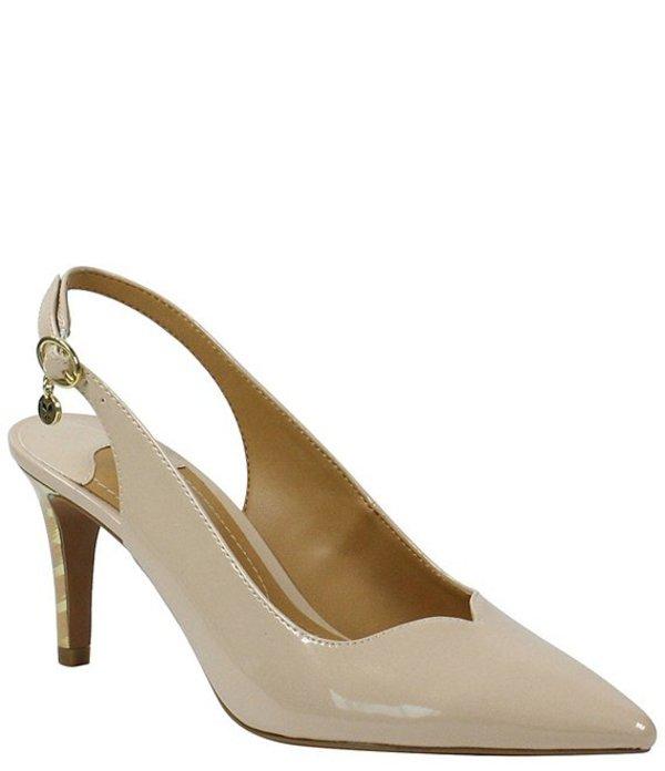 ジェイレニー レディース ヒール シューズ Belamie Patent Slingback Pointed Toe Pumps Nude Pearl