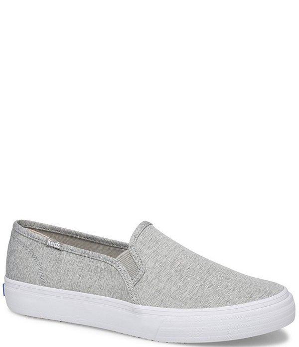 ケッズ レディース スニーカー シューズ Double Decker Heathered Woven Slip On Sneakers Light Grey
