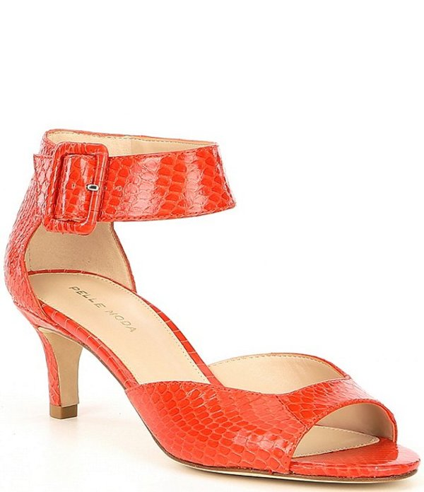 ペレモーダ レディース ヒール シューズ Berlin5 Snake Embossed Leather d'Orsay Pumps Coral Snake