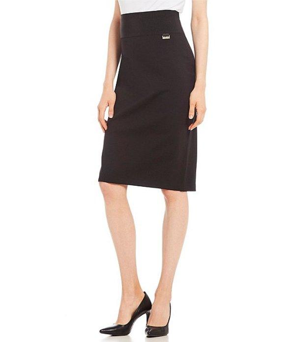 カルバンクライン レディース スカート ボトムス Wide Waistband Ponte Knit Pencil Skirt Black