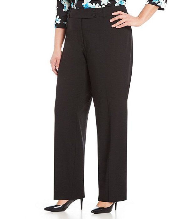 カルバンクライン レディース カジュアルパンツ ボトムス Plus Curvy Fit Straight Leg Pants Black