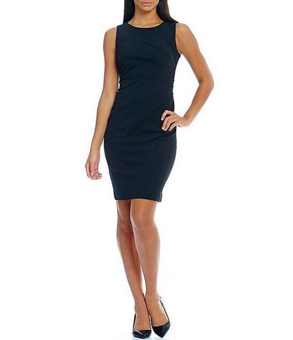 カルバンクライン レディース ワンピース トップス Sideburst Sheath Dress Black
