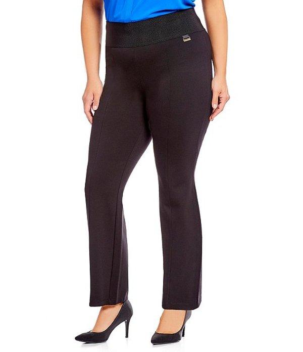 カルバンクライン レディース カジュアルパンツ ボトムス Plus Size Wide Waist Straight Pant Black