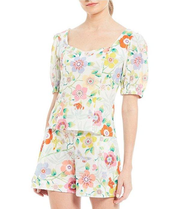 アントニオ メラーニ レディース シャツ トップス Made With Liberty Fabrics Ellie Sweetheart Neck Puff Sleeve Blouse Pavilion