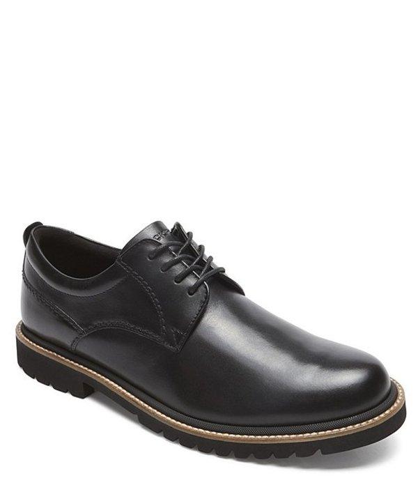 ロックポート メンズ ドレスシューズ シューズ Men's Marshall Suede Plain Toe Oxfords Black